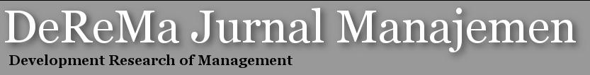 DeReMa Jurnal Manajemen