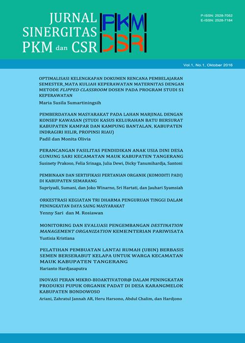 Cover image of Jurnal PKM & CSR